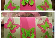 borboletas pra festa de 4 anos