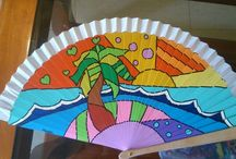 Abanicos pintados by Mabel Blasco
