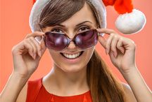 #Festivals #Fun #Gifts #Eyewear / It's about connecting eyewear with the festive mood. Fun with sunglasses and eyeglasses.