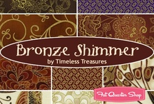 "Bronze Shimmer by Timeless Treasures / ""Bronze Shimmer"" by Chong-a Hwang for Timeless Treasures Fabrics"