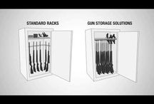 Rifle Rods / Rifle Rods allow you to increase the long gun storage capacity of any space, while keeping guns organized and easy to access.  This is a more efficient system than the standard safe interiors and, when using Rifle Rods, the standard long gun rack is no longer necessary.