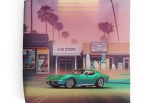 Synthwave Merchandise by Denny Busyet / Merchandise by Denny Busyet. Wide range of 80's synthwave / vaporwave / retro aesthetic product from T-shirt, Poster, Phone cases, Art Print etc.