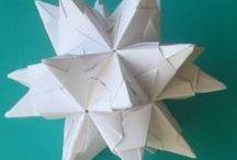 Papiersterne dreidimensional