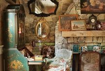 Hideaway Lodge in the Woods / Accumulating visuals for the rustic retreat I long for in the mountains someday.....