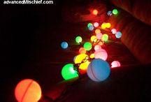 ping pong balls lights