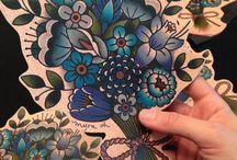 old school flower tats