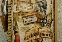 Cestovatelský deník (výtvarka)