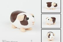 Guinea pig clay creations / Guinea pigs made of polymer clay