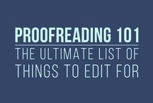 Editing & proof-reading