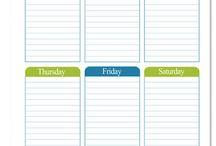 Plan orden / Listas y planificación