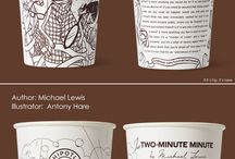 Cups with graphic text