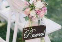 Wedding: Reserved Seat Ideas