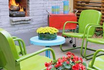 """Decor ~ Outdoor Space / Ideas for decorating outdoor """"rooms"""""""