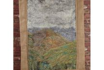 Gorgeous Felt Wall Hangings / Being a natural fibre, wool forms patterns that are repeated in nature, such as cloud formations, ripples of water, rolling landscape, grain of wood or contours of stone. Some of the hangings represent local Lake District scenes, and some are more abstract, using the natural colour and texture of different wool varieties to create pieces that seem to emulate water or landscapes.