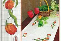 tulipán teritő