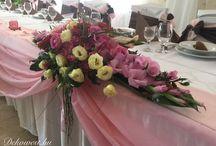 Rózsaszín eskûvői dekoráció