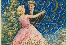 Soviet New Year's Postcards
