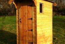 Camping toilet block
