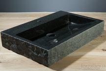 Forzalaqua stone bathroom basins / Natural stone design washbasin