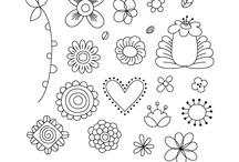 egyszerű rajzok,minták