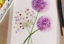 Arty Watercolour / Watercolour instruction and tips