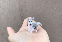 Miniature Husky dog crochet
