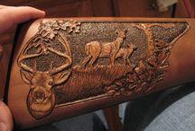 Carved Gun Stock
