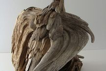 Wood, driftwood and wood art./sculptures
