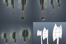 low poly weapon