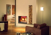 Double fronted gas fires