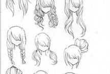 Girls hair drawing