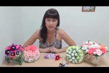 Мастер класс цветы с конф