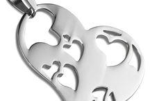 HANGERS VOOR KETTING ZILVER KLEUR EDELSTAAL / Kettinghangers, hangers voor ketting in de kleur zilver gemaakt van edelstaal.
