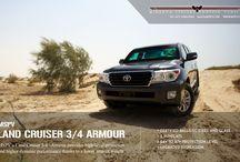 Armoured Toyota Land Cruiser 3/4 Armour