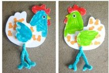 Paper chicken craft for kids / This page has a lot of free Paper chicken craft for kids,parents and teachers