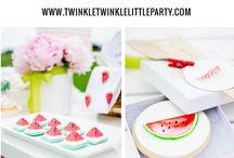 Party Deko: Sommer Früchte
