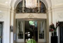 Interiors: hotel lobby