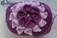 Flor crochê