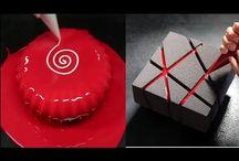 Mirror glaze cake decoration tutorial