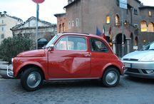 Vespas, Fiat 500s, other transports