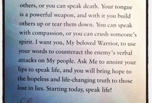 speak life / by Crystal Cha
