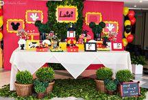 Luigi Party 2 Years Mickey Mouse - Curitiba - Brasil / Festa Infantil, decoração para festa infantil, ideias, inspirações.