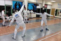 Fencing Classes / Random shots of actual fencing classes and fencing training in progress.