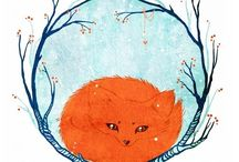 NV1 тема Лисы Foxes