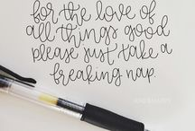 hand lettering. / by Sarah Kaminsky