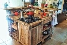 Paletten Küche Insel