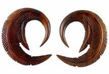 00 gauge earrings / 00 gauge organic body jewelry and gauged earrings