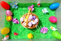 Easter sensory play / Easter crafts, games, sensory & messy play for babies & toddlers