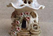 Fantasy Tea Light Holders / Beautiful, handmade tea light holders