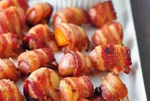 appetizers / bacon wrapped potato bites